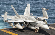 Chained Prints - A Us Navy Fa-18c Hornet Tied Print by Giovanni Colla