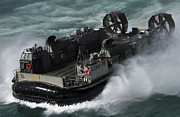 Operation Iraqi Freedom Art - A U.s. Navy Landing Craft Air Cushion by Stocktrek Images