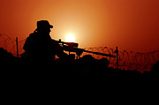 Firearms Metal Prints - A U.s. Special Forces Soldier Armed Metal Print by Stocktrek Images