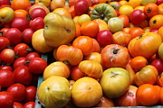 Vegetable Stand Prints - A Variety of Fresh Tomatoes - 5D17811 Print by Wingsdomain Art and Photography