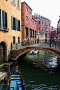 City Venice Italy Framed Prints - A Venetian Canal Framed Print by Michelle Sheppard