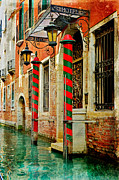 Martina Fagan Prints - A Venetian Hotel Print by Martina Fagan