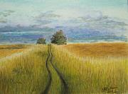 Green Grass Pastels Originals - A Very Good Day by Georgie McNeese