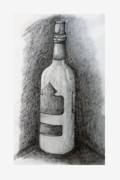 Glass Bottle Drawings Framed Prints - A Very Good Year Framed Print by Ryan Salo