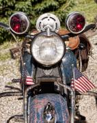 Motorcycle Photos - A very Old Indian Harley-Davidson by James Bo Insogna