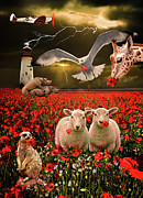 Sheep Prints - A Very Strange Dream Print by Meirion Matthias
