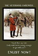 World War One Digital Art Metal Prints - A Veterans Farewell Metal Print by War Is Hell Store