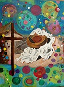 Giving Painting Originals - A vibrant Church by Ann Whitfield