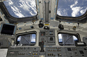 Terra Posters - A View From Inside The Flight Deck Poster by Stocktrek Images
