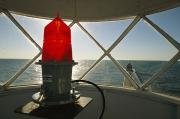 Nautical Structures Photos - A View From Inside The Grand Haven by Ira Block