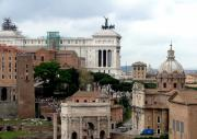 Western Art Digital Art - A View from Palatine Hill in Rome Italy by Mindy Newman