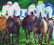 Horse Racing Paintings - A view From the field by Michael Lee