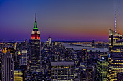 Nyc Framed Prints - A View From The Top Framed Print by Susan Candelario