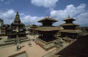 Religious Characters And Scenes Photos - A View Of Durbar Square Showing by James P. Blair