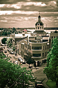 Kingston City Hall Prints - A view of Kingston Ontario Print by Michel Soucy