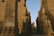African Heritage Framed Prints - A View Of Luxor Temple Framed Print by Kenneth Garrett