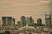 Cityscapes Prints - A View Of Nashville Print by Jan Amiss Photography