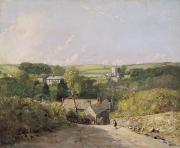 The Church Framed Prints - A View of Osmington Village with the Church and Vicarage Framed Print by John Constable