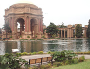 Flower Works Photos - A view of Palace of Fine Arts theatre San Francisco No one by Hiroko Sakai