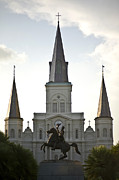 Quarter Horse Framed Prints - A View Of St Louis Cathedral Framed Print by Hannele Lahti