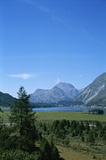 Scenic Overlooks Prints - A View Of The Engadin Valley Outside St Print by Taylor S. Kennedy
