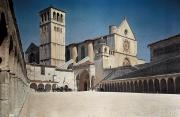Basilica Of St Francis Posters - A View Of The Franciscan Monastery, St Poster by Hans Hildenbrand