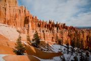 Winter Views Prints - A View Of The Hoodoos And Other Eroded Print by Taylor S. Kennedy