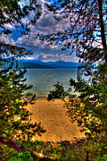 Mountains And Lake Prints - A View of the Lake Print by David Patterson