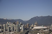 Skylines Metal Prints - A View Of The Skyline Of Vancouver, Bc Metal Print by Taylor S. Kennedy