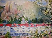 Stanley Park Painting Posters - A View of the Stanley Hotel Poster by Pamela England