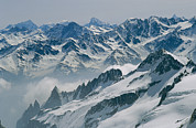 Snow Scenes Art - A View Of The Swiss Alps From Col Du by Gordon Wiltsie