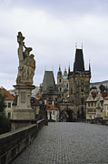 Charles Bridge Prints - A view of the towers of Print by Taylor S. Kennedy