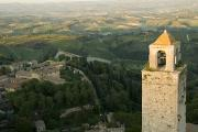 Italian Landscapes Prints - A View Of The Tuscan Landscape Print by Annie Griffiths