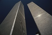 Terrorists Prints - A View Of The Twin Towers Of The World Print by Roy Gumpel