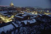 Vatican City Prints - A View Of Vatican City In The Snow.  It Print by James L. Stanfield