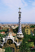 Barcelona Prints - A View Over Barcelona From Parc Guell. Print by Tracy Packer Photography