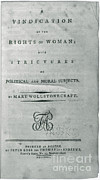Title Page Art - A Vindication Of The Rights Of Woman by Photo Researchers