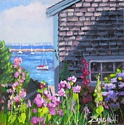 Cape Cod Painting Posters - A Visit to P Town Jr Poster by Laura Lee Zanghetti
