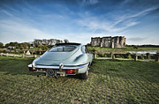 Jaguar E Type Photos - A Vroom With A View by Steve Purnell
