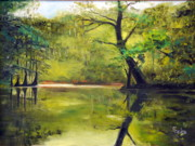 Waccamaw River Paintings - A Waccamaw Evening by Phil Burton