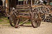 Pushcart Posters - A Wagon and Wheels Poster by Donna Van Vlack