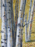 """texas Artist"" Originals - A Walk in the Aspens by David Ackerson"
