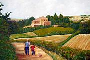 Wine Making Painting Prints - A Walk in the Clouds Print by Leonardo Ruggieri