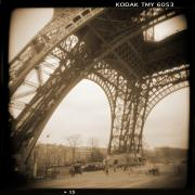Vintage Digital Art Metal Prints - A Walk Through Paris 13 Metal Print by Mike McGlothlen