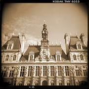 Holga Camera Prints - A Walk Through Paris 15 Print by Mike McGlothlen
