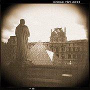 Sepia Digital Art Prints - A Walk Through Paris 16 Print by Mike McGlothlen
