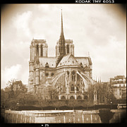 Notre Dame Cathedral Prints - A Walk Through Paris 25 Print by Mike McGlothlen