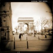 Sepia Digital Art Posters - A Walk Through Paris 3 Poster by Mike McGlothlen