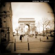 A Walk Through Paris 3 Print by Mike McGlothlen