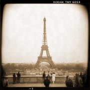 White Dress Prints - A Walk Through Paris 5 Print by Mike McGlothlen